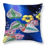 Floral Art Illustrated Throw Pillow