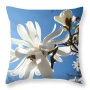 Floral Art Print Landscape Magnolia Tree Flowers White Baslee Troutman Throw Pillow