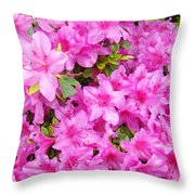 Floral Art Prints Pink Azalea Garden Landscape Baslee Troutman Throw Pillow