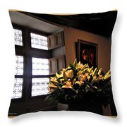 Floral At Chenonceau Throw Pillow