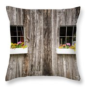 Floral Barn Planters Throw Pillow