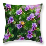 Floral Beehive Throw Pillow