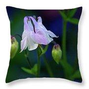 Floral Birds Throw Pillow