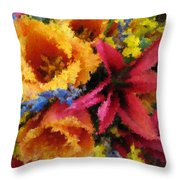 Floral Blast Throw Pillow