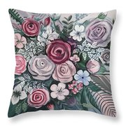 Floral Boom Throw Pillow