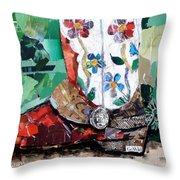 Floral Boot Throw Pillow