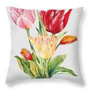 Floral Botanicals-jp3788 Throw Pillow