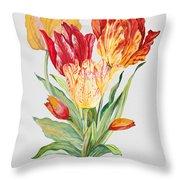 Floral Botanicals-jp3789 Throw Pillow
