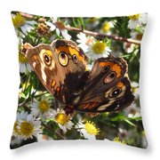Floral Buckeye Throw Pillow
