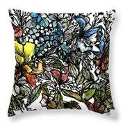 Floral Bush I Throw Pillow
