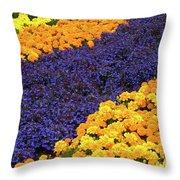 Floral Carpet Throw Pillow