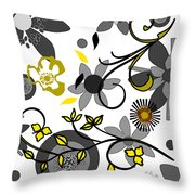 Floral Collision Throw Pillow