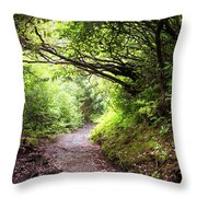 Floral Confetti On The Trail Throw Pillow