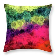Floral Decay Throw Pillow