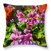 Floral Design 5 Dark Throw Pillow