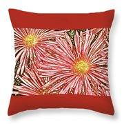 Floral Design No 1 Throw Pillow by Ben and Raisa Gertsberg