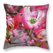 Floral Dogwood Tree Flowers Baslee Troutman Throw Pillow