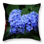 Floral Duet Throw Pillow