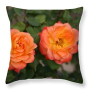 Floral Duo Throw Pillow