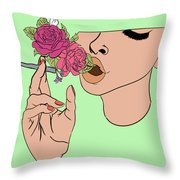 Floral Emission Throw Pillow