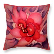 Floral Energies Throw Pillow