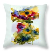 Floral Fancy Throw Pillow