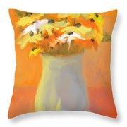 Floral Fantasia Throw Pillow