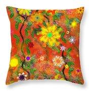 Floral Fantasy 122110 Throw Pillow