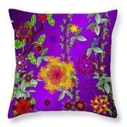 Floral Fantasy 122410 Throw Pillow