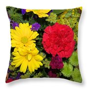 Floral Festival  Throw Pillow by Myrna Migala