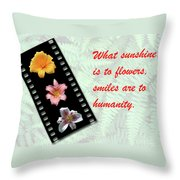 Floral Filmstrip Throw Pillow by Bill Barber