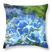 Floral Fine Art Blue Hydrangeas Baslee Troutman Throw Pillow