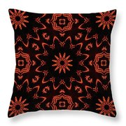 Floral Fire Tapestry Throw Pillow