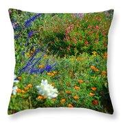 Floral Flow Throw Pillow