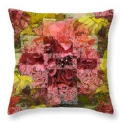 Floral Flux Throw Pillow