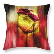 Floral Folds Throw Pillow