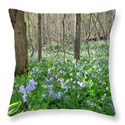 Floral Forest Floor Throw Pillow