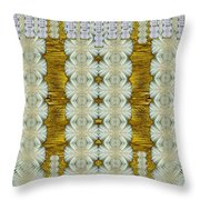 Floral Forest Of Magic And Gold Throw Pillow