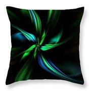 Floral Fractal 040710 Throw Pillow