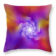 Floral Fractal 052210 Throw Pillow