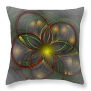 Floral Fractal 11-24-09 Throw Pillow