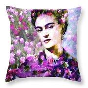 Floral Frida Vi Throw Pillow