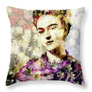 Floral Frida Vii Throw Pillow