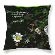 Floral Great Way Quote Throw Pillow