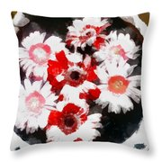 Floral Hotty Totty Throw Pillow