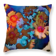 Floral Hotty Totty Differs Throw Pillow
