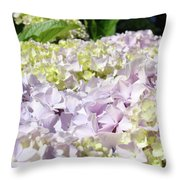 Floral Hydrangea Flowers Art Prints Lavender Baslee Troutman Throw Pillow
