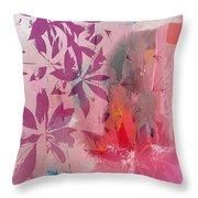 Floral Illusion Throw Pillow