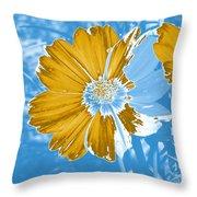 Floral Impression Throw Pillow