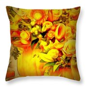 Floral In Ambiance Throw Pillow